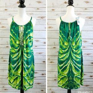 INC Tiger Eye Print Embellished Dress